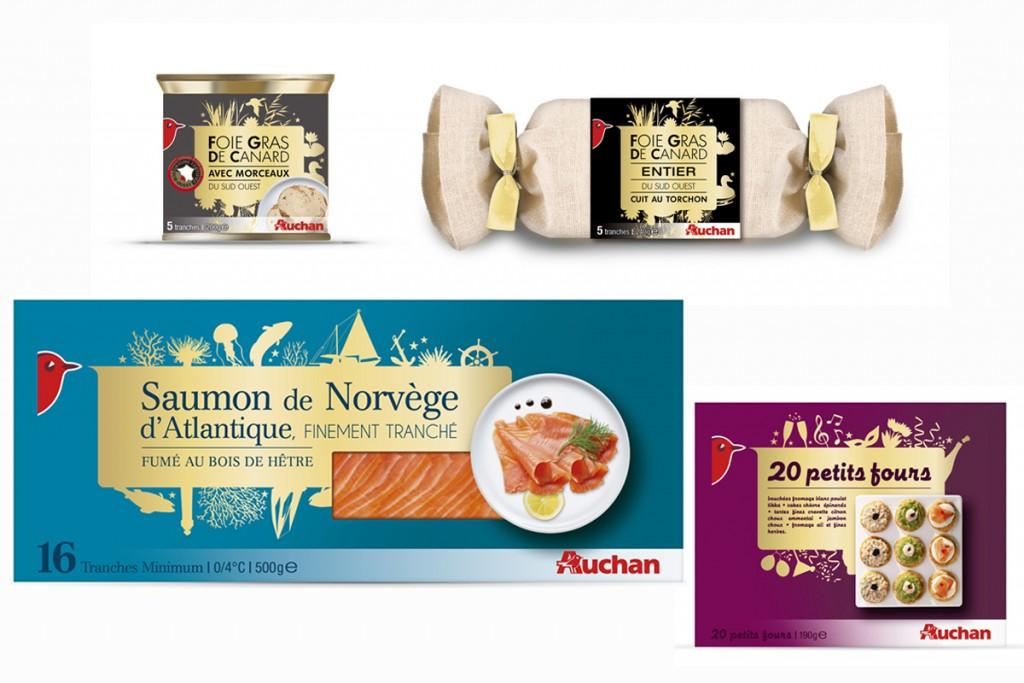 Gamme festive pour Auchan