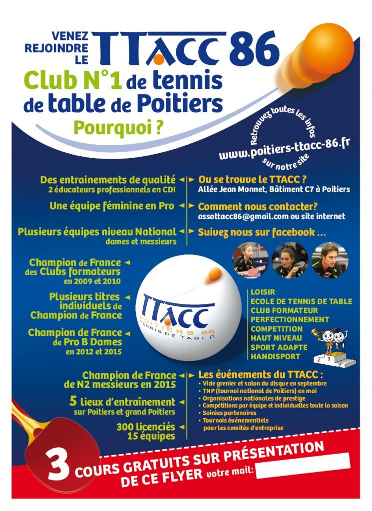 Flyer TTACC pour le club : www.poitiers-ttacc-86.fr