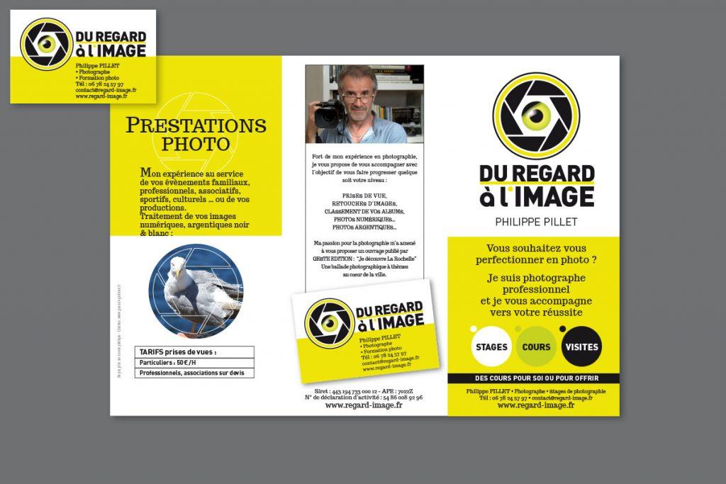 Carte de visite et Flyer : «Du regard à l'image»