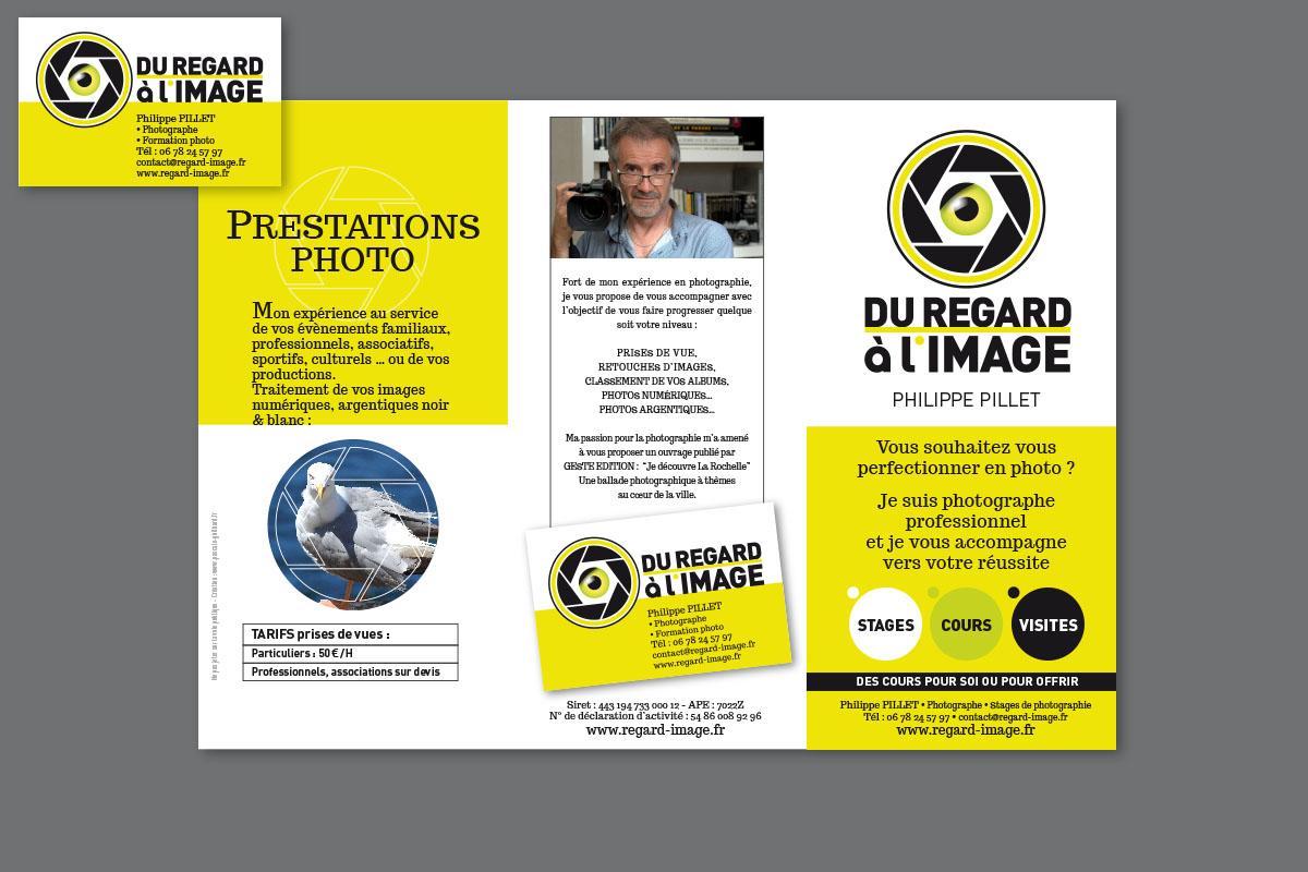 """Carte de visite et Flyer : """"Du regard à l'image"""""""