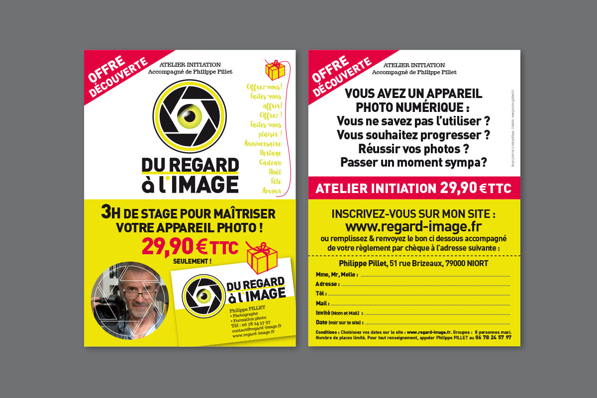 "Logo et Flyer promotionnel : "" Du regard à l'image """