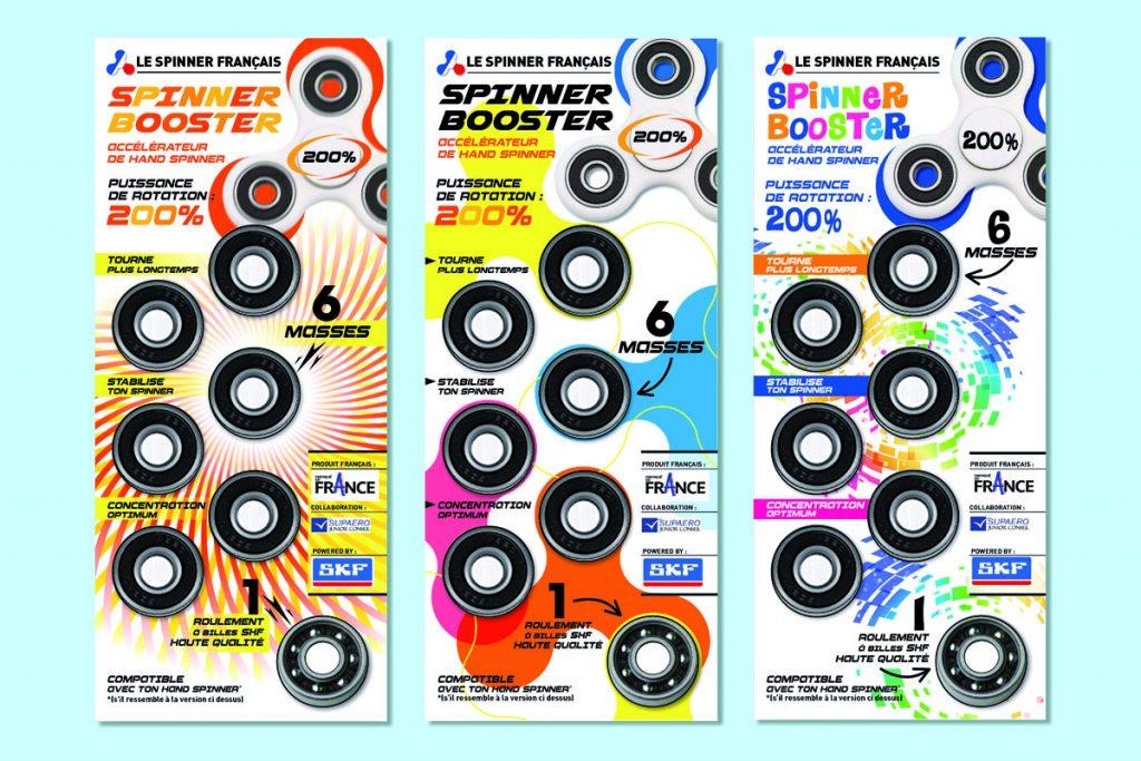 Logo et packaging : «Le Spinner Français»