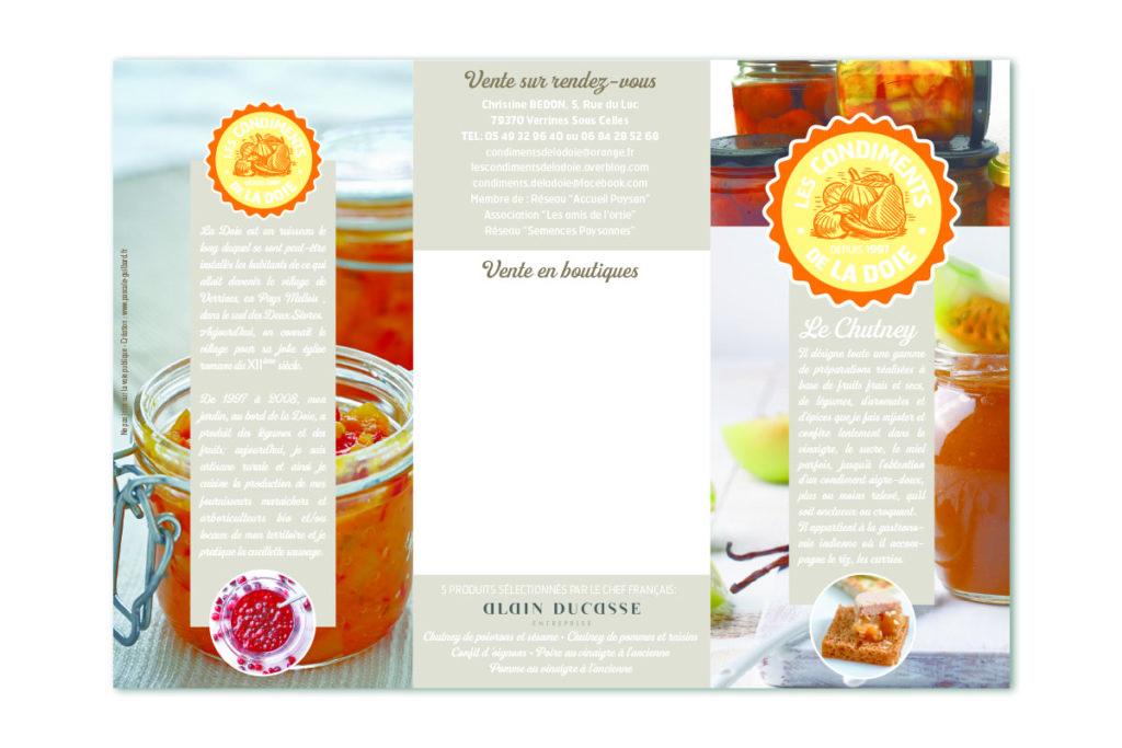 Flyer : «Les condiments de la Doie»