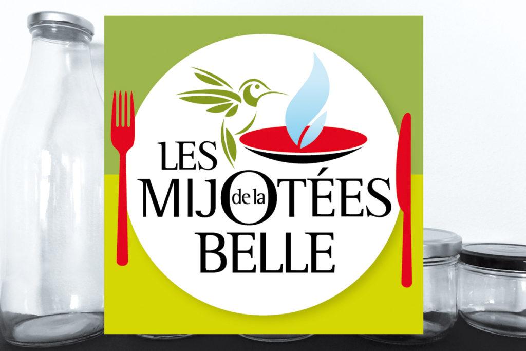 Les Mijotées de la Belle, logo et packaging.