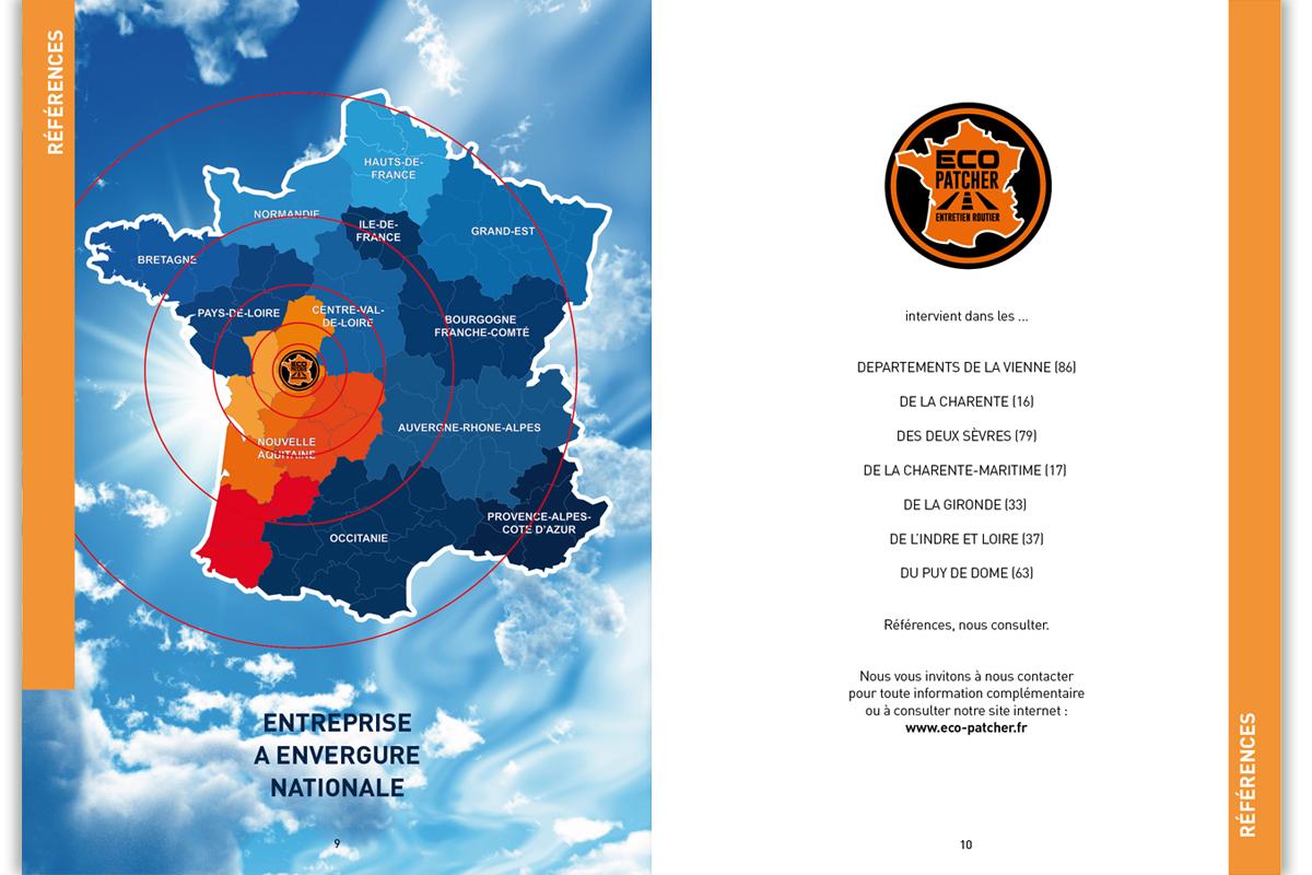 """Mémoire """"Eco Patcher"""", société de réparations de routes communales et départementales."""