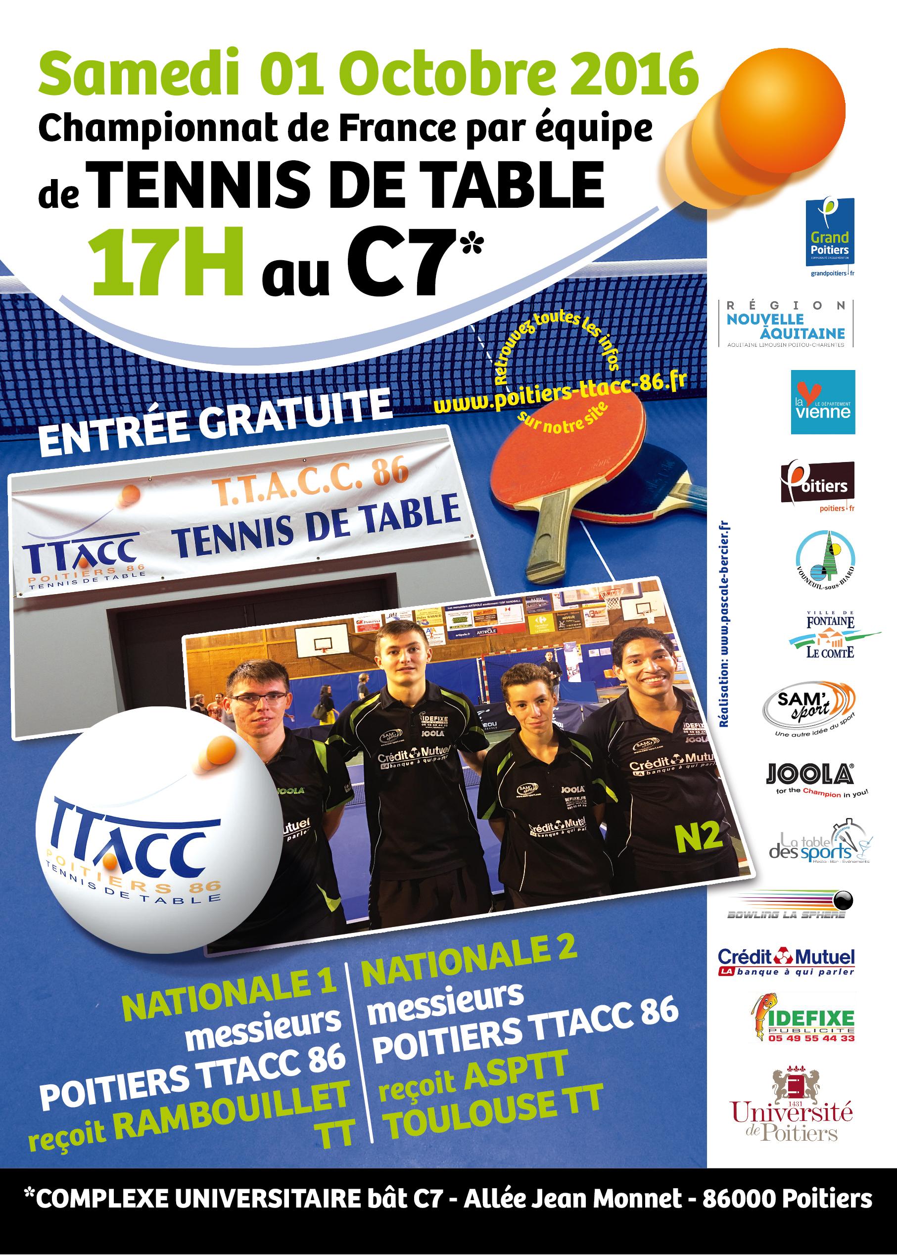 Affiche TTACC pour le club : www.poitiers-ttacc-86.fr