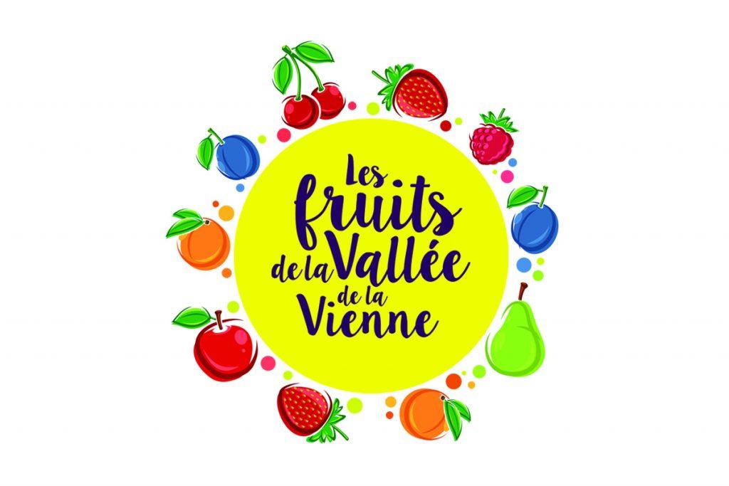Logo : «Les fruits de la vallée de la vienne»