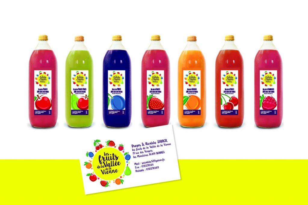Gamme packaging : «Les fruits de la vallée de la vienne»