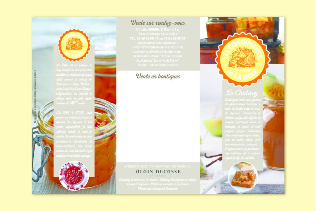 Flyer «Les condiments de la Doie»