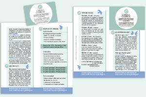 Flyer de présentation et carte de visite de Carole, sophrologue à Poitiers (86)