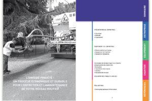Mémoire technique pour Eco Patcher, entreprises de réparation de routes communales et départementales