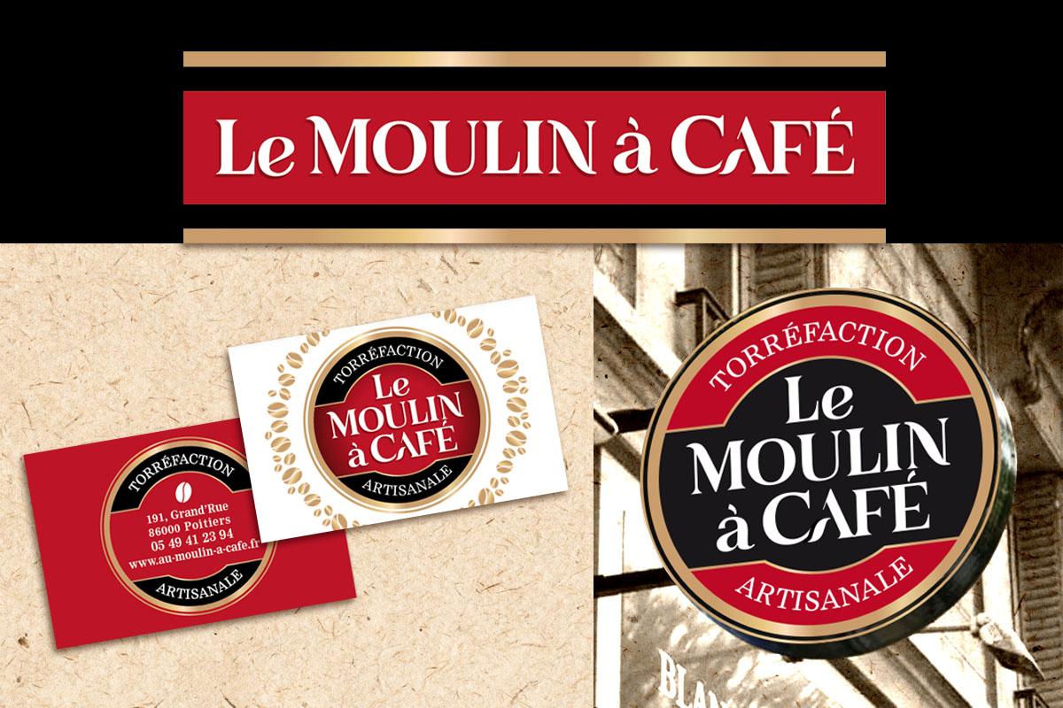 Le Moulin Caf Carte De Visite Banderolle Enseigne Lumineuse
